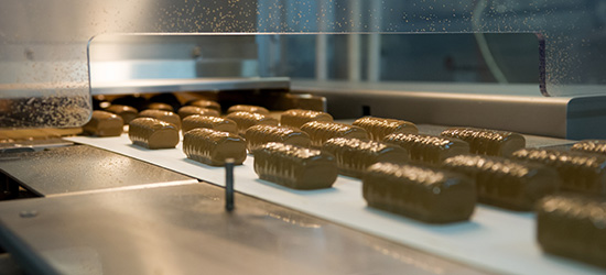 Hüttenkäse-Riegel mit Schokoladenüberzug