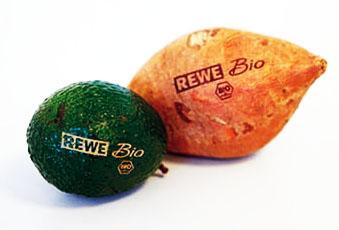 Laserbeschriftung auf Obst und Gemüse