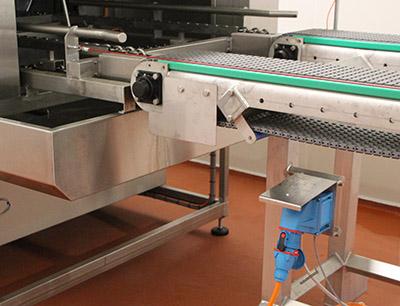 Steckvorrichtung in der Lebensmittelverarbeitung