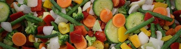 Perfekt durchmischt – so wird das Gemüse in die Beutel abgefüllt