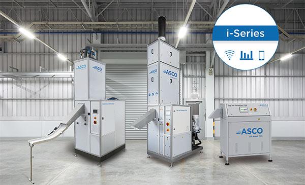 Drei Maschinen der i-Serie zur Produktion von Trockeneis