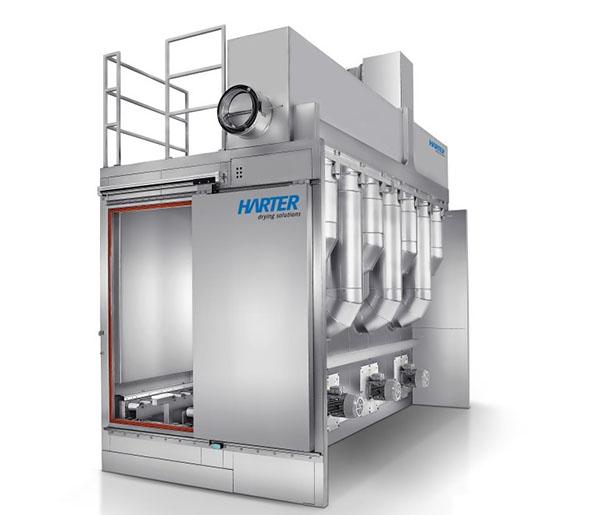 Trocken-Kühl-Tunnel: Die Trockner können optional auch mit einem Kühlbaustein ausgestattet werden, falls dies prozessbedingt gewünscht ist.