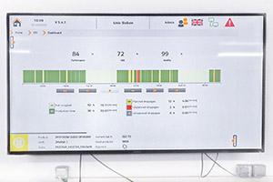 Die Orange Box ermöglicht es dem Wartungsleiter, die Leistung der Abfülllinie auf einem großen Bildschirm in seinem Büro zu überwachen.