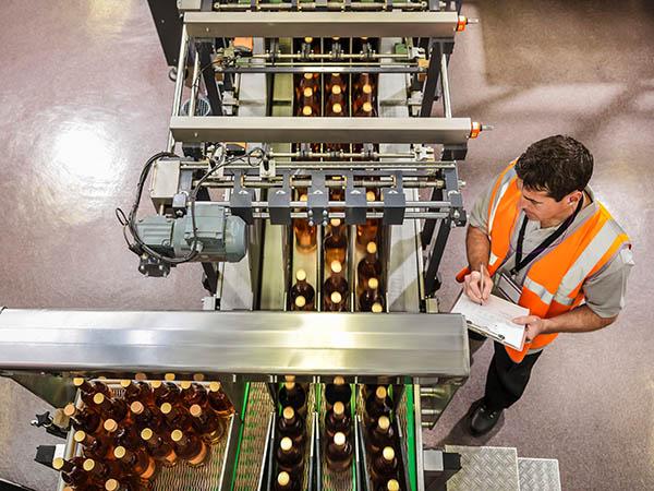 Smart Maschine in der Smart Factory - Flaschenhandling-Maschine