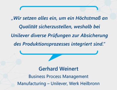 Verschiedene Prüfschritte sichern Produktqualität im Produktionsprozess