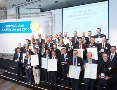 Gruppenfoto International Foodtec Award 2015