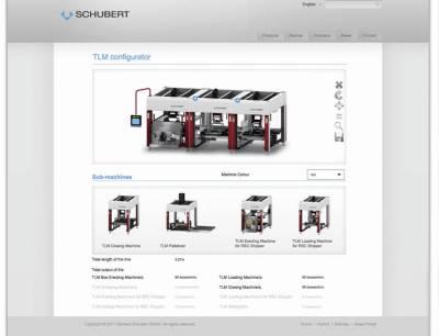 Online-Konfigurator für TLM-Verpackungsmaschinen