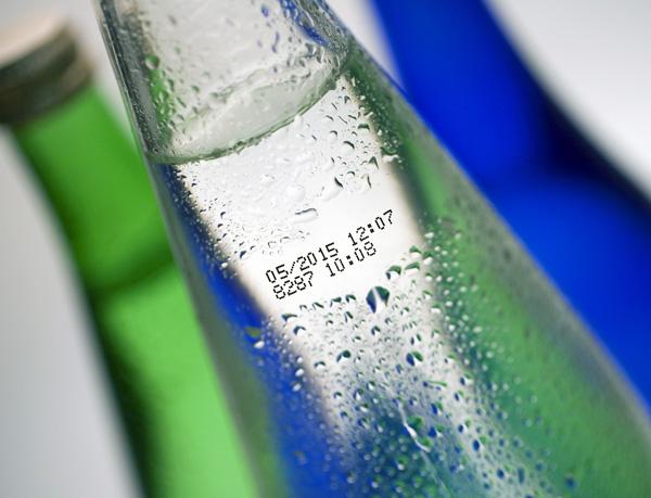 Aufdruck Glasflasche