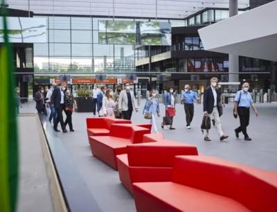 Sieben Messehallen belegt die Fachpack 2021 auf dem Messegelände in Nürnberg