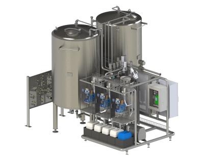 Reinigungsteil: Cleaning-in Place-Anlage für die Lebensmittelindustrie
