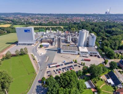 Im nordrhein-westfälischen Ibbenbüren produziert Crespel & Deiters seine weizenbasierten Rohstoffe Weizenstärken, Weizenproteine, Weizenfasern und Weizenextrakte