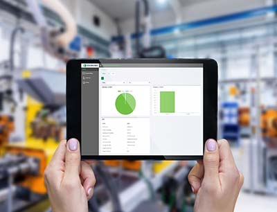 Domino Cloud Tablet in Industrie 4.0 Produktion