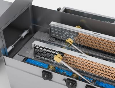 Die neuen Gea Matrizen-Waschmaschinen nutzen ein effizientes System mit beweglichen Wascharmen