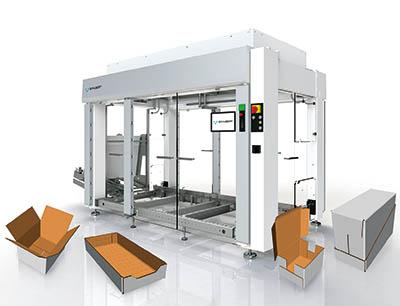 Der Lightline Cartonpacker ist konzipiert für Verpackungsaufgaben, die weniger Flexibilität erfordern