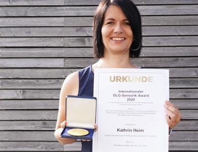 Kathrin Heim von der FH Wiener Neustadt in Österreich wurde der internationale DLG-Sensorik Award 2020 verliehen