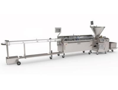 Die Vemag Maschinenbau GmbH präsentierte auf der weltweit bedeutendsten Fachmesse für die Fleischwirtschaft Iffa 2019 das Längenportioniergerät LPG218