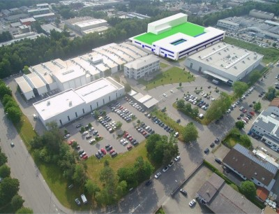 Das Netzsch-Gelände in Waldkraiburg in der Geretsrieder Straße mit dem zukünftigen Neubau