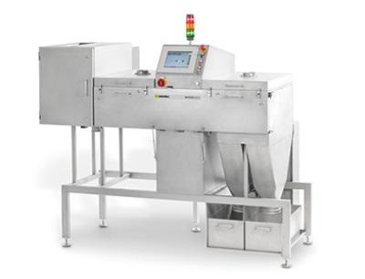 Mit dem Produkt-Sortiersystem Raycon Bulk können alle Fremdkörper erkannt werden, welche die Röntgenstrahlung aufgrund ihrer Dichte, chemischen Zusammensetzung oder ihrer mechanischen Abmessungen besser absorbieren als das umgebende Schüttgut