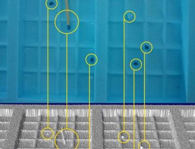 Reflexsystem zur Detektion kleinster Fremdkörper