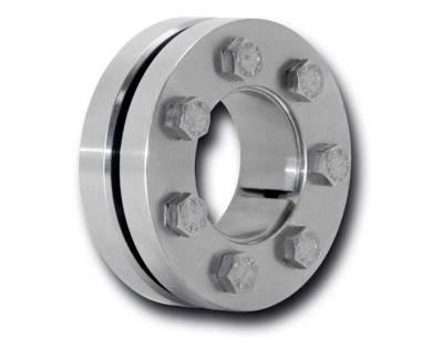 Mit den korrosionsbeständigen Edelstahl-Schrumpfscheiben RLK 603 K lassen sich Hohlwellen oder Naben spielfrei von außen auf rotierende Wellen aufspannen