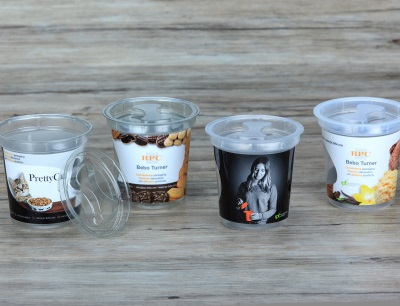 Der Turner-Becher kann beispielsweise für Speiseeis, Snacks und Süßwaren eingesetzt werden
