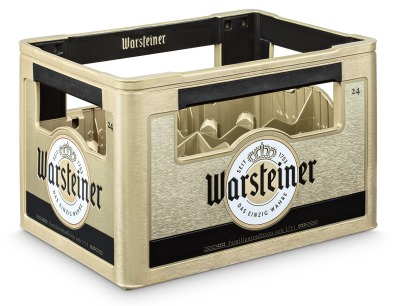 nachfolgermodell warsteiner stellt neuen bierkasten mit in moulding labels vor. Black Bedroom Furniture Sets. Home Design Ideas