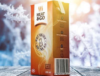 Mikrowellen-Kartonpackung für warme Getränke