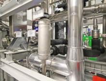 Detailansicht der Absorptionskältemaschine