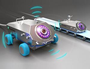 Reinigungsroboter mit optischem Sensorsystem zur Schmutzerkennung