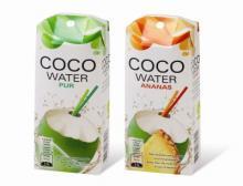 Kokosnusswasser in Karton