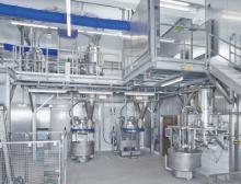 Sichere und staubarme Kneter-Beschickung zur Herstellung von Tiefkühl-Teiglingen