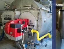 Modernisierter Dampfkessel