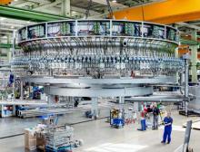 Produktionshalle für Abfüllanlagen bei Krones AG