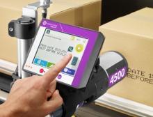 Der Drucker 4500 lässt sich leicht und schnell in jede Produktionslinie integrieren