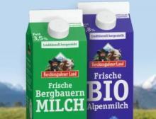 Die Frischmilch von Berchtesgadener Land wird in Tetra Pak-Getränkekartons verpackt