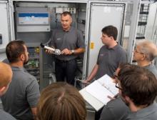 Interne Schulung der Abteilung Sicherheitstechnik der Bilfinger Greylogix Foodtec GmbH