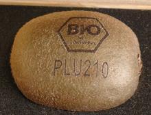 Natural Labeling einer Kiwi von Bluhm Systeme