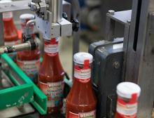 Deckelcodierung von Ketchupflaschen