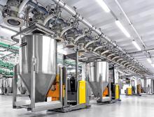 Vollautomatisches Absammelsystem mittels Daxner Container Systems DCS in Verbindung mit Fahrerlosem Transportsystem FTS