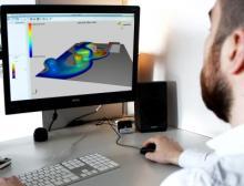 Mit der Simulationssoftware Simkor werden Reinigungssysteme virtuell getestet und optimiert