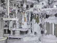 Die Innenflächen des aseptischen Gebläses können per Schaumwäsche gereinigt und mit Wasserstoffperoxid sterilisiert werden