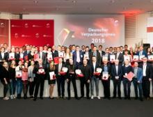 Gruppenbild (Auszug) der Gewinner des Deutschen Verpackungspreises 2018