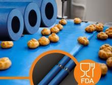 Das neue FDA-konforme Tribopolymer Iglidur A250 ist speziell für den Einsatz als Messerkantenrolle entwickelt