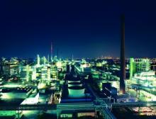 Industriepark Höchst bei Nacht