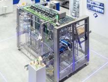 Meypack Kartonverpackungsmaschine VP 600 für die Verarbeitung von Pouches