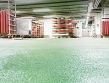 Ucrete ist ein extrem widerstandsfähiges, langlebiges Bodensystem auf Polyurethanharzbasis