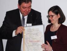 Übergabe des Förderpreises an Dr. Kathrin Schalk
